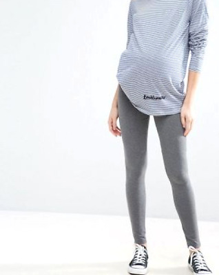 ASOS MATERNITY Womens US 2 Heather Gray Pull On Full Length Pregnancy Leggings