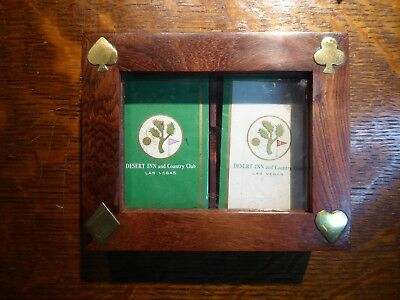 Desert Inn Casino Playing Cards, Double Deck, Factory sealed, In Rosewood Case
