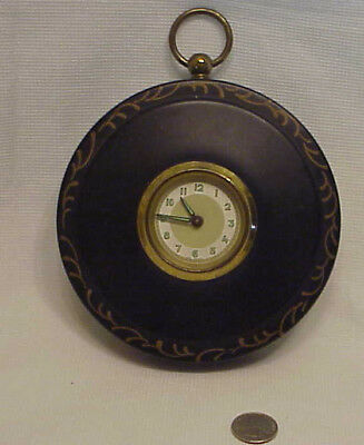 Small Wind Up West Germany Metal Wall Clock Mechanical Vintage Kitchen Picture