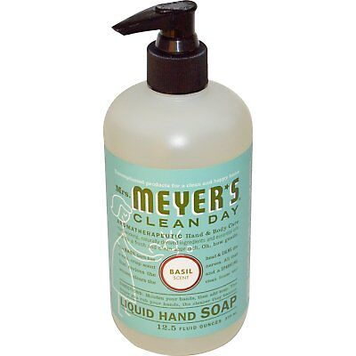 Mrs. Meyers Clean Day, Liquid Hand Soap, Basil Scent, 12.5 fl oz (370 ml)