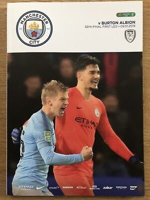 Manchester City v Burton Albion Official Matchday Programme 9/1/19