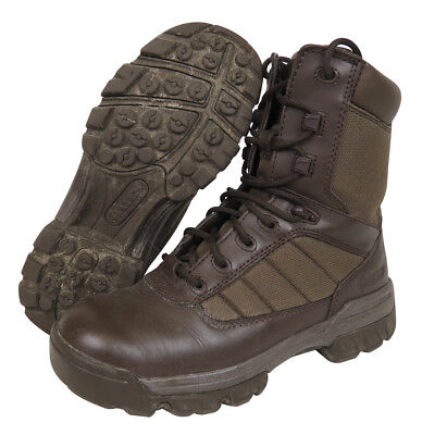 British Army Cadet Boots - Brown - Bates - Durable - Worn With Mtp - All Sizes
