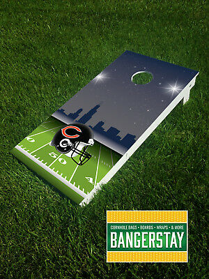 Handcrafted Cornhole Boards with Scorestrip- Chicago Bears (CHB3)