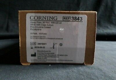 (20) Corning 96-Well PS Poly-D-Lysine Assay Plate with Lid, 3843