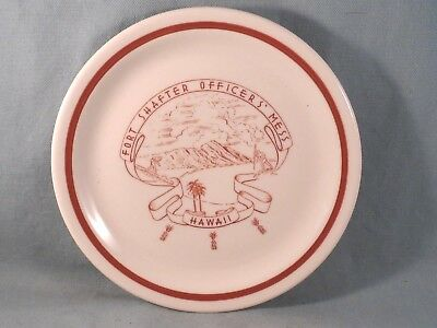 "Shenango 7"" Plate,Fort Shafter Officers Mess,Hawaii,Military,Surfer,Diamond Head"