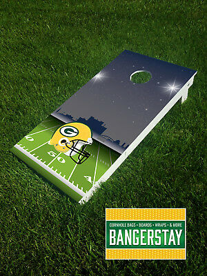 Handcrafted Cornhole Boards with Scorestrip- Green Bay Packers (GBP6)