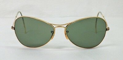 Vintage WWII Woman's Aviator Sunglasses American Optical 1/10 12K GF.