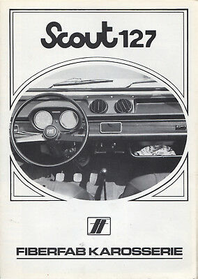 Scout - 127 Fiat Kit Car Fiberfab brochure/prospekt/folder German Rare/Selten