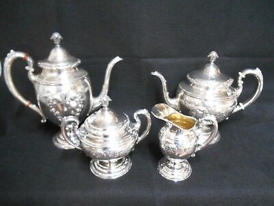 Towle Sterling Silver Tea Set    c1950 OLD MASTER PATTERN    -   51 OUNCES