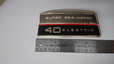 1966 Johnson 40HP RD-28 Super Sea-Horse ElectricStart Cowling Nameplate 311246
