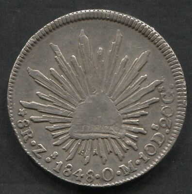 1848 Mexico Zs OM 8 Reales.