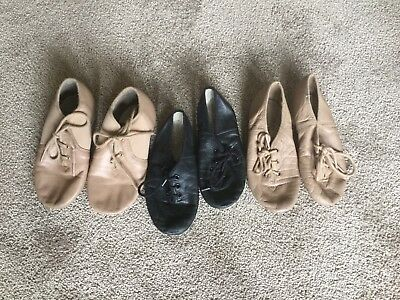 Jazz Shoes Bulk Size 11 And 12 Black Tan Dance