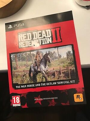 Red Dead Redemption 2 PS4 with unused DLC