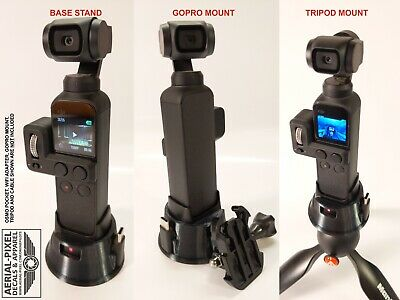 DJI OSMO Pocket WiFi Module Compatible Tripod & GoPro Mount Flex Rubber 3DPrint