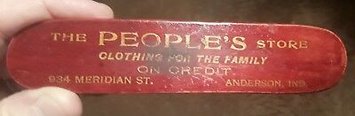 Old advertising clothes brush. Peoples Store, Anderson, Indiana