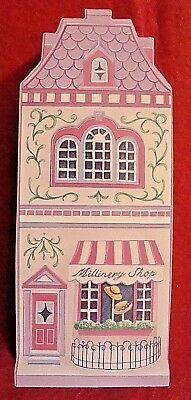 The Lenox Village Flats Wooden Wall Hanging 1997 Millinery Shop - Mint - Sale!
