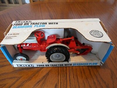 Vintage 1987 Ertl 1:16 Scale Ford 8N Tractor with Dearborn Plow, MPN 841, MIB