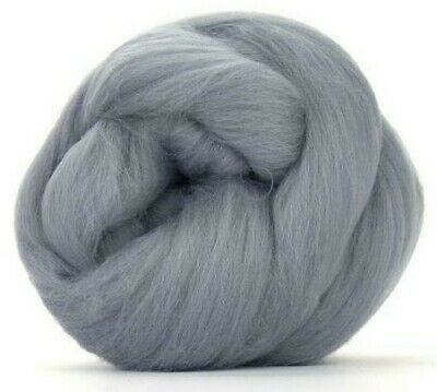 Grey Merino Wool dyed fibre roving / tops  - 50g- needle felting / hand spinning