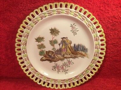 Antique Wall Plate Hand Painted French Faience c.1830, ff666  GIFT QUALITY!!