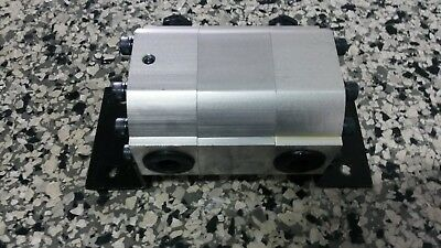 Rotary Gear Flow Divider & Combiner Hydraulic Twin Cylinder / Motor Synchroniser