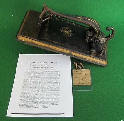 1863 Patent Model Sewing Machine by William O. Grover    Genuine Rare Antique