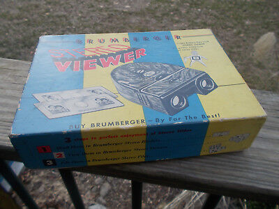 Vintage Brumberger Stereo Viewer # 1265 Battery Operated Colorful Box Working
