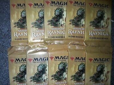 10 MTG Guilds of Ravnica Booster Packs *Factory Sealed* FREE SHIPPING