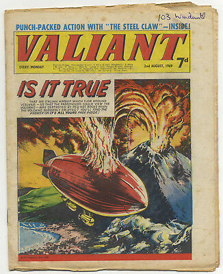 Valiant 2nd Aug 1969 (mid-grade copy) Steel Claw, Mytek, Kelly's Eye
