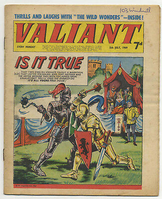 Valiant 5th June 1969 (high grade copy) Steel Claw, Mytek, Kelly's Eye