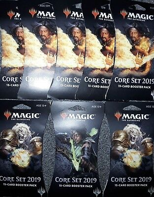 8 MTG Core Set 2019 Booster Packs *Factory Sealed* FREE SHIPPING