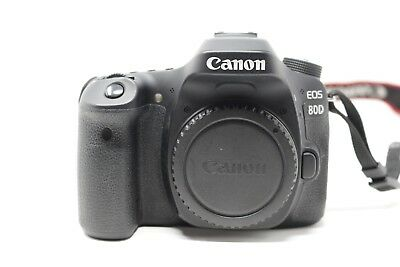 Mint Canon EOS 80D 24.2MP Digital SLR Camera - Black (Body Only) 2K Shutter