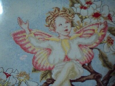 PEAR BLOSSOM Fairy cross stitch chart DMC Flower Fairies Cicely Mary Barker 1997