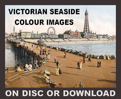 SEASIDE COLOUR SCENES c1900 IMAGES Vol.1 - Quick & Easy Cash From Your Printer!