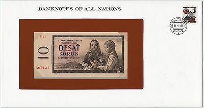 Czechoslovakia 10 Korun 1960 P88b Banknotes of All Nations *~*Gem Unc*~*