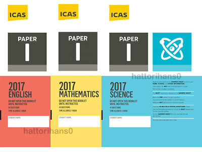 ICAS Past Papers Year 11/12 Paper I Paper J English Math Science with Answers