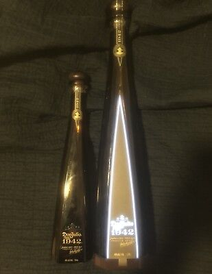 Don julio 1942 Magnum Lightup 1.75 Liter empty bottle and One Additional 1942