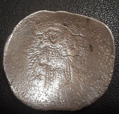 Beautiful Byzantine Empire Silver Coin,Acient 600 AD-Date