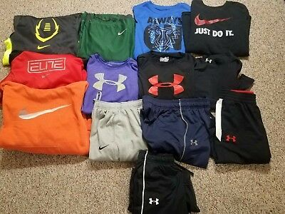 Lot's Of 13 Mixed Boy's Under Armour Nike & Jordan Size Large & Xl 14-16-18