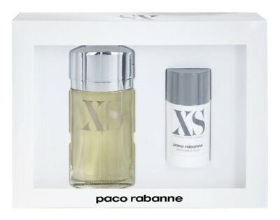 PACO RABANNE XS EXCESS POUR HOMME 2 PCS GIFT SET EDT Spray 3.4 Oz, Deodorant 2.2