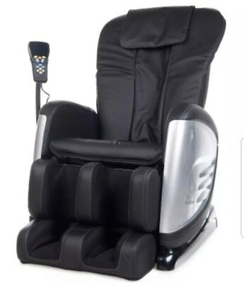 Super Deluxe Massage Chair Exc Cond Paid $1,299 - Black. Reclining.