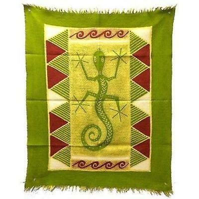 Gecko Batik In Green/Yellow/Red Wall Hanging