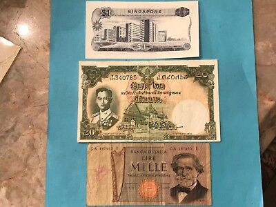WORLD CURRENCEY 11 PAPER MONEY COLLECTION LOT  Well Circulated No Reserve