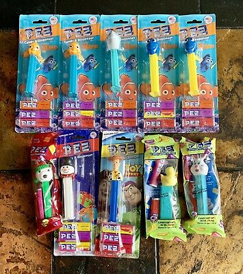 Lot of 10 New PEZ Dispensers - Nemo  Dory  Bruce The Shark  Woody  Easter