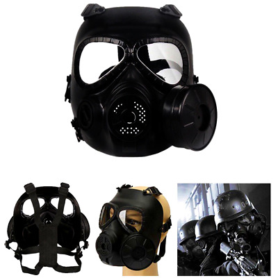 Gas Mask Filter Fan Perspiration Anti-Dust Protect Face Guard CS Edition