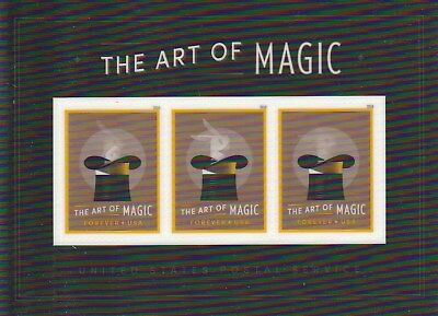 Scott 5306 THE ART OF MAGIC 2018 SOUVENIR SHEET of 3 MINT NH FOREVER STAMPS