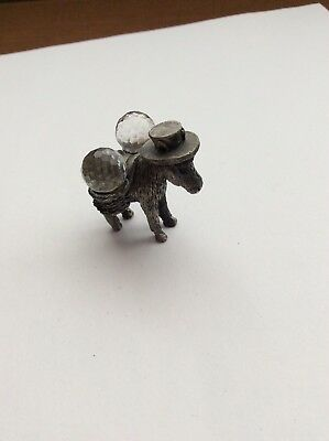 Pewter Mini Donkey, Working Mule, Exquisite,  Very Detailed Art Work