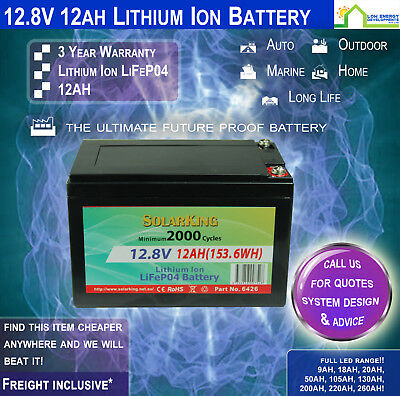 12V 12ah Lithium Ion LiFePo4 Deep Cycle Rechargeable Battery