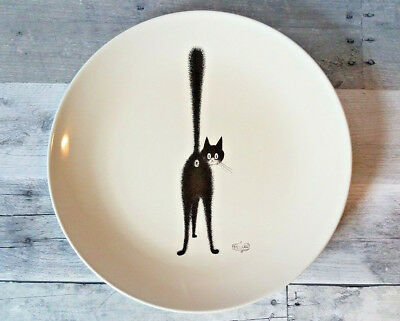 "Albert Dubout 2002 Edition CAT Third Eye 11"" Dinner Plate Ceramic French"