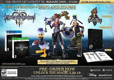 Kingdom Hearts III 3 Deluxe Edition + Bring Art Figures PS4 New Sealed Pre-Sale