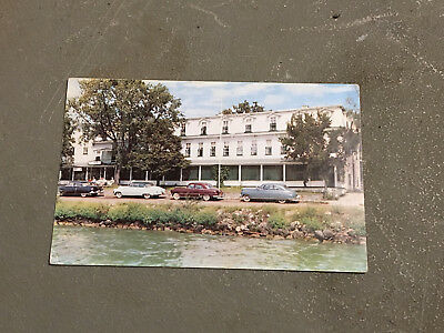 CLEAR LAKE IOWA Antique Post Card LAKE SHORE HOTEL Postcard 1952 Old Cars